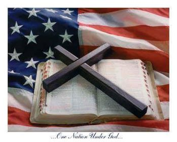 flag cross bible